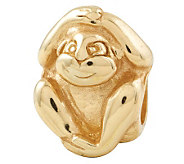 Prerogatives 14K Yellow Gold-Plated Sterling Monkey Bead - J302801