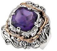 Hagit Gorali 3.15 ct Amethyst Ring, Sterling/14K Gold - J305501