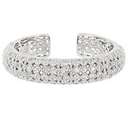 Judith Ripka Sterling 118 Facet Diamonique Cuff Bracelet - J320501