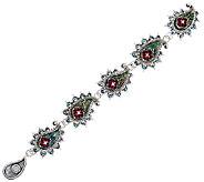 Barbara Bixby Sterling & 18K Gemstone Paisley 7 Bracelet - J322501