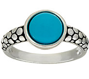 Michael Dawkins Sterling Silver Sleeping Beauty Turquoise Ring - J324201