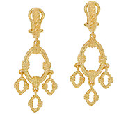 Judith Ripka Sterling & 14K Clad Textured Drop Earrings - J325101