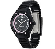 Judith Ripka Black Athena Watch w/ Color Diamonique Accents - J326101