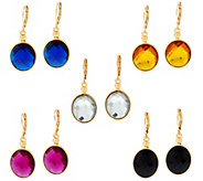 Joan Rivers Set of 5 Faceted Oval Earrings - J327401