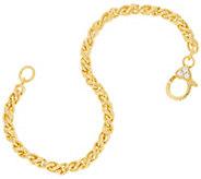 Judith Ripka Verona 14K Clad Twisted Cable Bracelet 13.0g - J331601