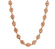 As Is Judith Ripka Sterling/ 14K Clad Diamonique Bead 20 Necklace - J332801
