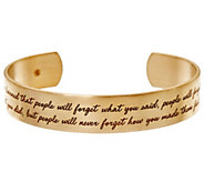 Maya Angelou Ive Learned Goldtone Cuff by Dogeared - J334201