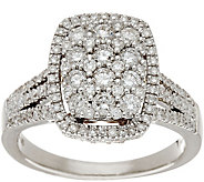Cushion Cluster Design Diamond Ring, 14K, 1.00 cttw, by Affinity - J335901