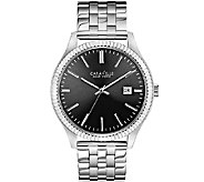 Caravelle New York Mens Silvertone Watch - J336801