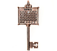 Rosetone Personalized Calendar Key Pendant - J338001