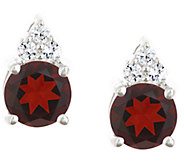 Premier 1.60cttw Round Garnet & Diamond Earrings, 14K - J338201