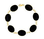 Black Onyx 7 Bracelet, 14K Gold - J338401