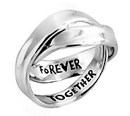 Hagit Sterling Rolling Message Ring - J339701