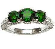 Judith Ripka Sterling Chrome Diopside and Diamonique Ring - J341001