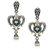 Barbara Bixby Sterling & 18K 1.70 cttw Blue Topaz Earrings - J343801