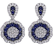 1.10 cttw Sapphire & 1/2 cttw Diamond Earrings,14K - J344101