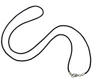Judith Ripka Sterling 36 Black Cord Necklace - J344901