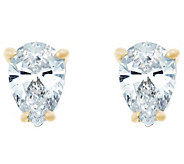 Pear Diamond Stud Earrings, 14K Yellow, 1/4cttw, by Affinity - J345001