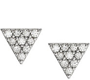 Dainty Designs 14K Diamond Accent Triangle Earrings - J345301