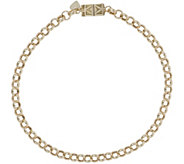 Vicenza Gold 8-1/2 Rolo Bracelet with Click Secure 14K, 3.3g - J345601
