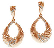 Judith Ripka 14K Rose Gold-Clad Pear Drop Earrings - J345801