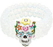 Kirks Folly Sugar Skull Beaded Stretch Bracelet - J351501