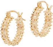 Imperial Gold Satin Sheen Huggie Hoop Earrings, 14K Gold - J352301