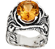 Or Paz Sterling Silver 4.00 ct Oval Gemstone Filigree Ring - J354301