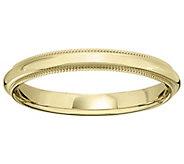 Womens 18K Yellow Gold 3mm Milgrain Wedding Band - J376201