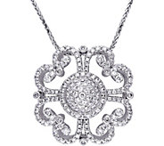 Vintage-Style Diamond Pendant, 14K, 1-1/4 cttw,by Affinity - J376501