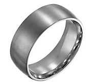 Forza Mens 8mm Steel Brushed Ring - J109502