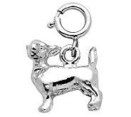 Sterling Silver Chihuahua Dog Charm - J110102