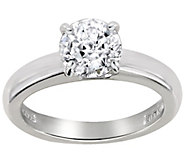 Diamonique 1.00 cttw 100-Facet Solitaire Ring,Platinum Clad - J112402