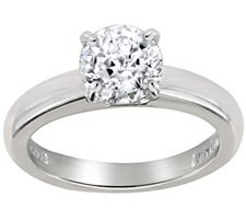 Epiphany Diamonique 1.00 ct tw Round 100-FacetSolitaire Ring
