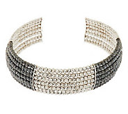 VicenzaSilver Sterling Average Multi-row Beaded Cuff - J274902