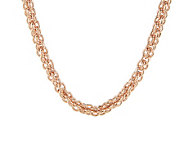 Bronze 18 Caged Link Magnetic Clasp Necklace by Bronzo Italia - J275702