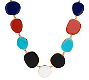 Kenneth Jay Lanes 28 Freeform Multi-Color Enamel Necklace - J277502
