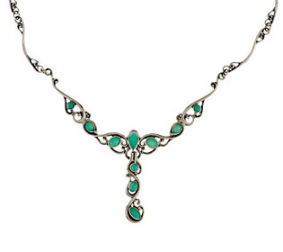 Carolyn pollack sterling chrysoprase necklace for Carolyn pollack jewelry qvc