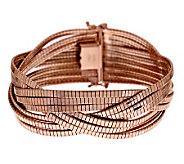 As Is Bronzo Italia Large Multi-strand Braided Omega Bracelet - J286202