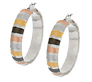 Vicenza Silver Sterling 1-1/2 Multi-Color Round Hoop Earrings - J289702
