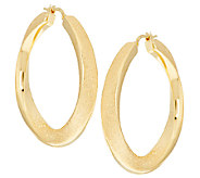 Sterling 1-1/2 Textured Twisted Hoop Earrings - J290402