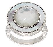 Judith Ripka Sterling White Mother-of-Pearl Doublet Ring - J295502