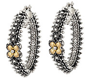 Barbara Bixby Sterling & 18K Eastern Chain Hoop Earrings - J296702