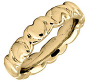 Simply Stacks Sterling 18KYellow Gold-Plated 4.25mm Heart Ring - J298102