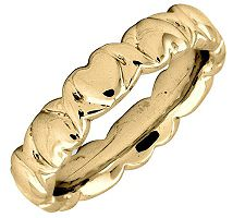 Simply Stacks Sterling 18KYellow Gold-Plated 4.25mm Heart Ring