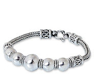 Novica Artisan Crafted Sterling  Thai Moons Bracelet - J307702