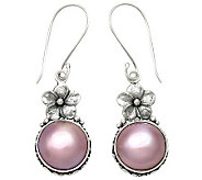 Novica Artisan Crafted Sterling Cultured Mabe Pearl Earrings - J310802