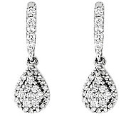 Diamond Teardrop Dangle Earrings Sterling 3/10ct by Affinity - J313402