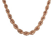Bronzo Italia 18 Polished Graduated Rope Necklace - J313502