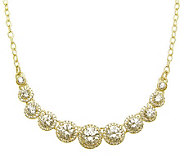 Judith Ripka Sterling Diamonique Round Halo Necklace, 14K Cla - J313702